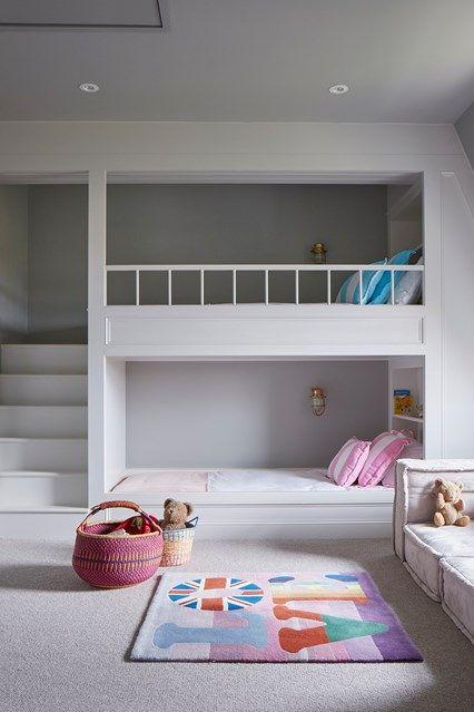 Kids' bedroom ideas | Bunk beds built in, Remodel bedroom, Kids .