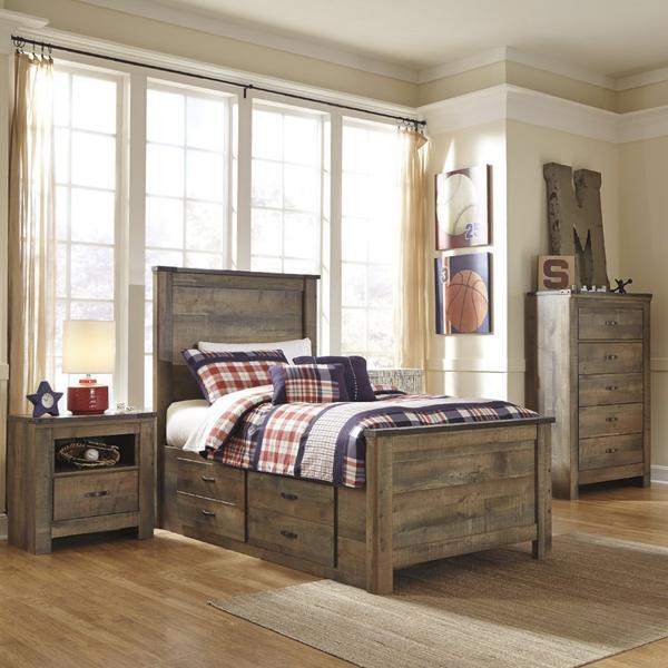 Trinell Panel Bed w/Storage Bedroom Set– Adams Furnitu
