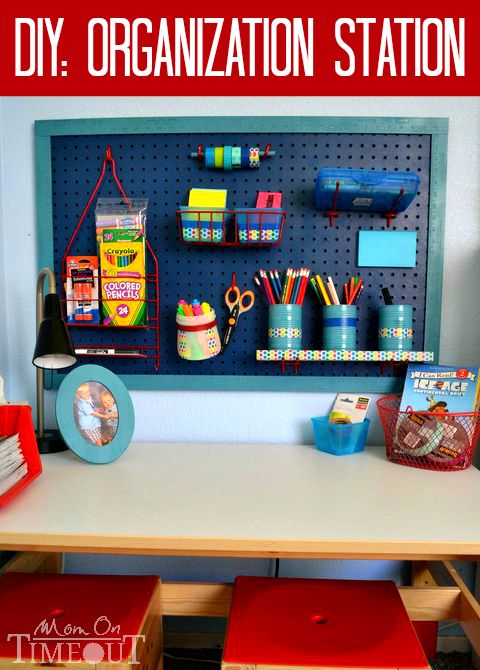 DIY Organization Station | Kids desk organization, Diy .