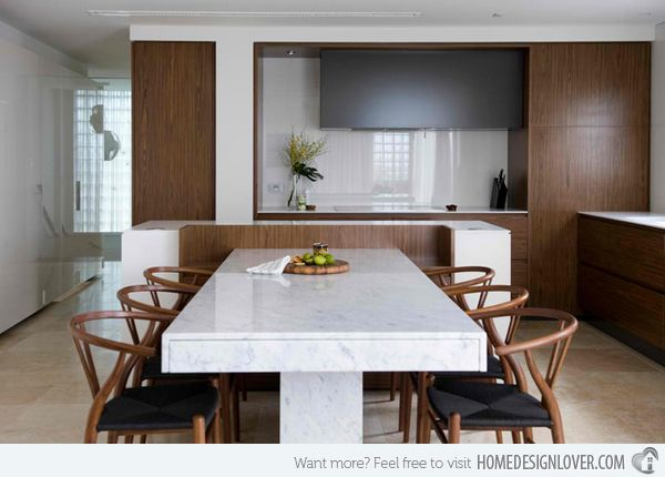 15 Stunning Granite Top Dining Room Tables | Home Design Lover .