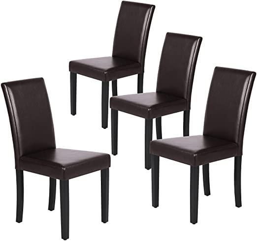 Amazon.com: Yaheetech Dining Chair Living Dining Room PU Cushion .
