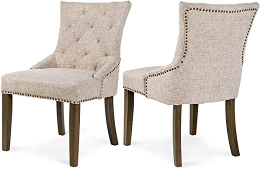 Amazon.com: FLIEKS Fabric Dining Chairs Set of 2 Leisure Padded .