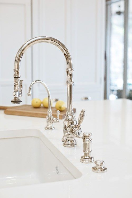 A Kitchen Faucet Roundup | Classic white kitchen, Kitchen faucet .