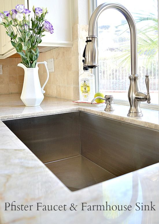 Kitchen updates including farmhouse sink and faucet | Kitchen .