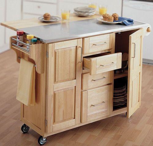 Unfinish Wood Kitchen Utility Cart Picture Interior Design .