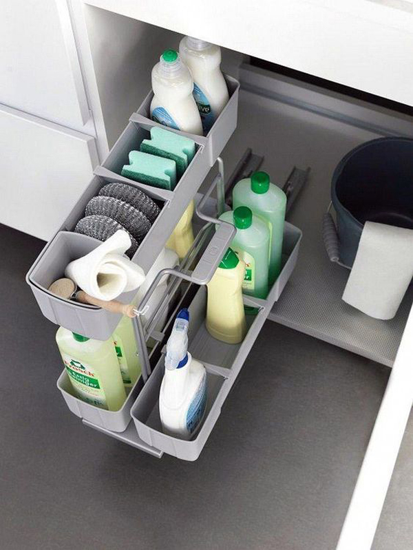 25 Brilliant Under-Sink Storage Ideas For Kitchen Organizers .
