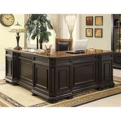 Riverside Furniture Allegro L-Shaped Executive Desk and Return | L .