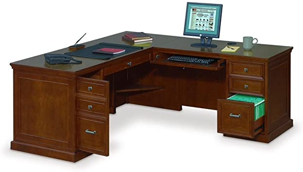 "Amazon.com : Executive L-Shaped Desk with Right Return - 69""W x 76 ."