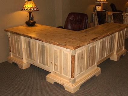 "Solo Joe Executive Desk with ""L"" shaped Retu"