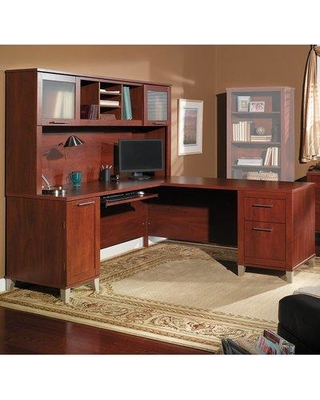 Deal. 65% Off Latitude Run Kittle Reversible L-Shaped Desk with .