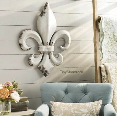 "METAL WALL DECOR Fleur De Lis French Country Style 30"" Large ."