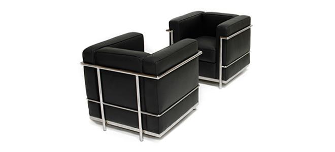 Furniture - Chair - LC2 - Le Corbusi