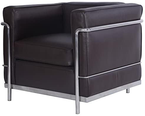 Amazon.com: MLF Le Corbusier Style LC2 Armchair 1 Seater, Dark .