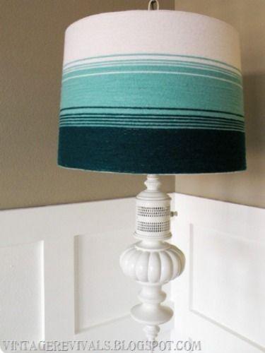 Jazz Up a Basic Lamp Shade With a DIY Flourish | Diy lamp shade .