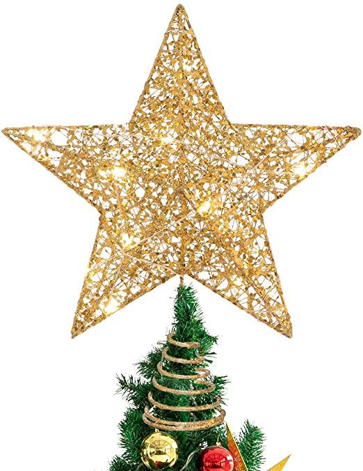 Amazon.com: STOBOK Christmas Tree Topper,Christmas Decorations .