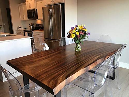 Amazon.com: Live Edge Dining Table made in a modern rustic finish .