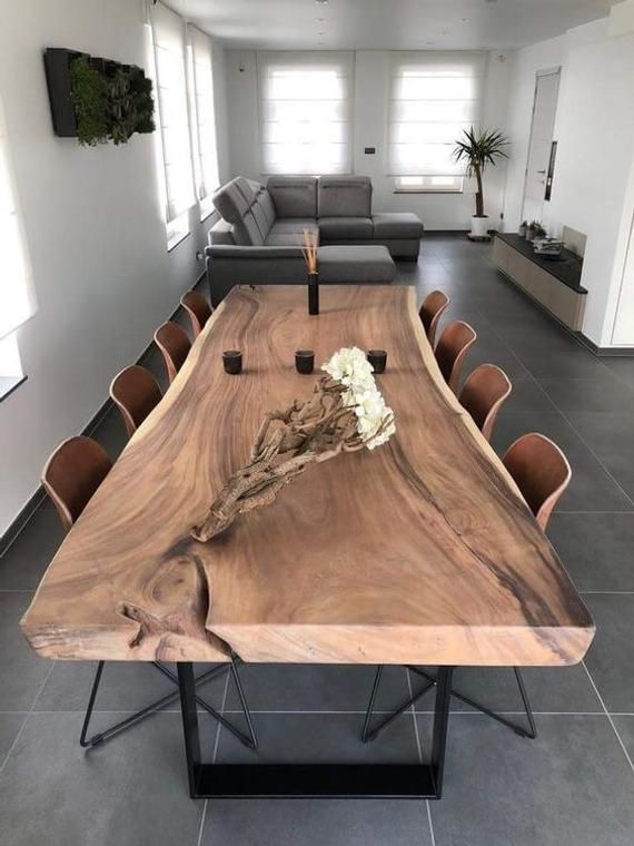 Live Edge Dining Table (A3) | Contemporary dining room design .