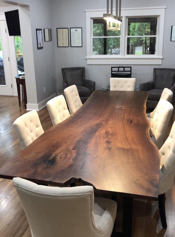 Live Edge Dining Table/ live edge/ black walnut table/wood | Et