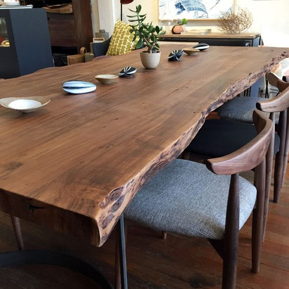 Leviathan Dining Table | Live edge dining table, Living table .
