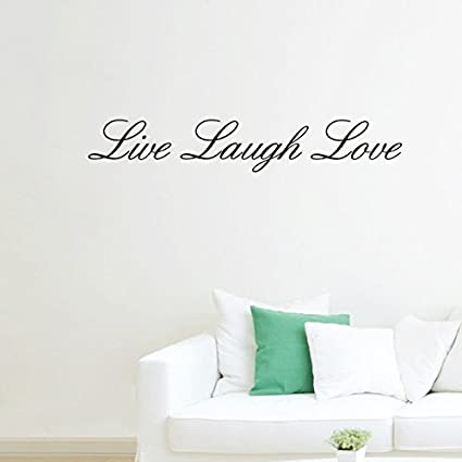 Amazon.com: Live Laugh Love Removable Wall Stickers Home Decals .