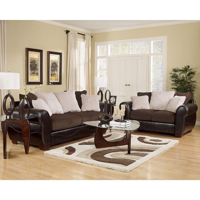 Voltage - Chocolate Living Room Set Signature Design   Furniture Ca