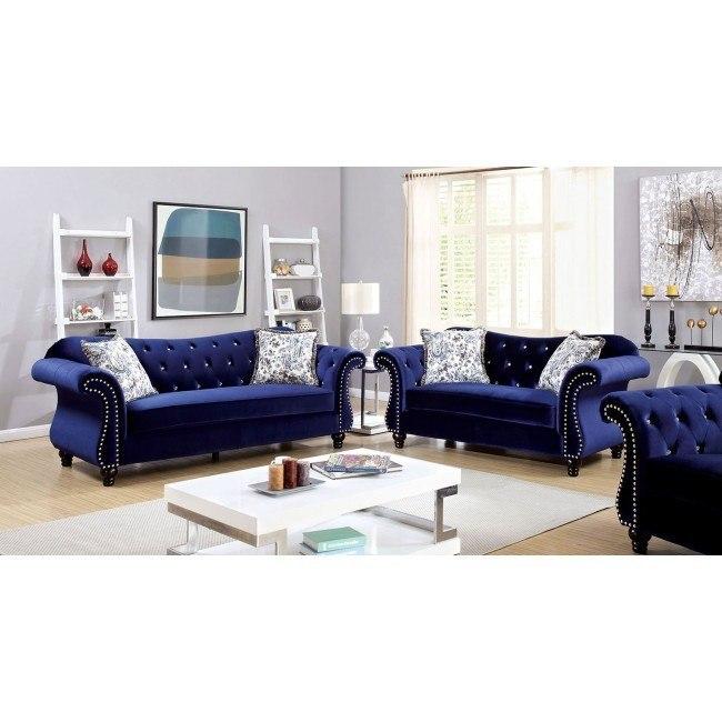 Jolanda Living Room Set (Blue) Furniture Of America, 5 Reviews .