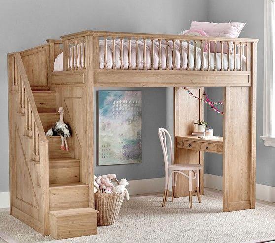 Fillmore Stair Loft | Kids loft beds, Loft bed, Kid be
