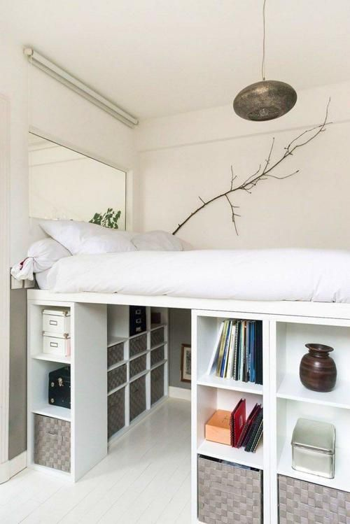 Bedroom Ideas | Ikea loft bed, Diy loft bed, Bunker b