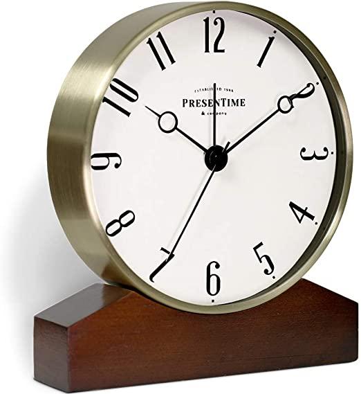 Amazon.com: PresenTime & Co Mozart Mantel Alarm Clock, Tabletop .