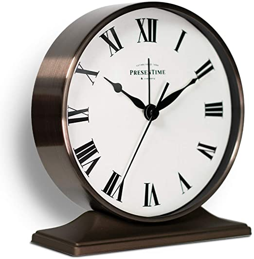 Amazon.com: PresenTime & Co Lewis Mantel Alarm Clock, 5.5 x 5 inch .