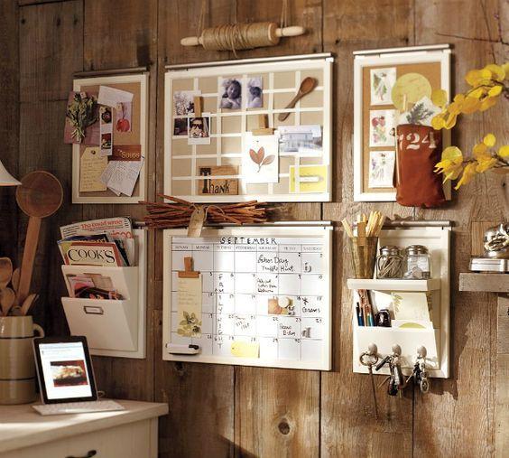 20 DIY Memo Board Ideas - All DIY Masters | Wall organization .