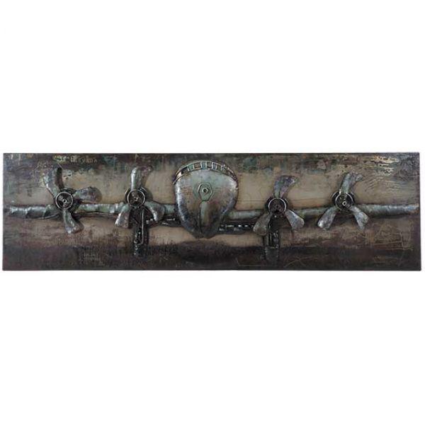Metal Airplane Wall Decor | 123-130619 | G130619 | PRIME TASTE .