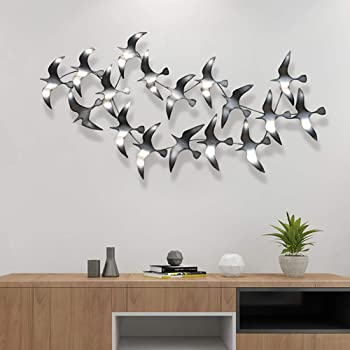 Amazon.com: DEKADRON Metal Wall Art Metal Bird Flocks Wall Art 3D .
