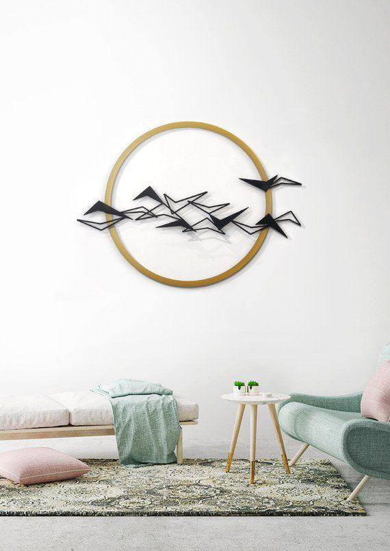 Black Birds Metal Wall Art Metal Home Decor Flying birds | Etsy .