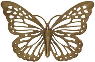Amazon.com: Gold Metal Butterfly Wall Decor: Home & Kitch