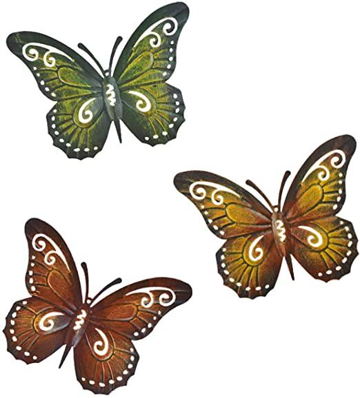 Amazon.com: Metal Butterfly Wall Decor Butterfly Wall Art Indoor .