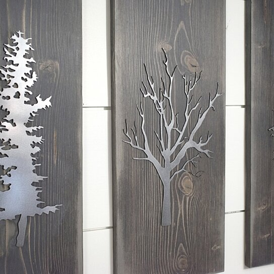 Buy Tree Plaque, Set of 3, Metal wall Art, Rustic Home Decor .