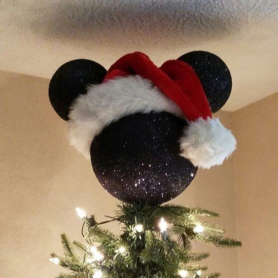 Mickey Mouse Tree Topper | Disney christmas tree, Disney christmas .