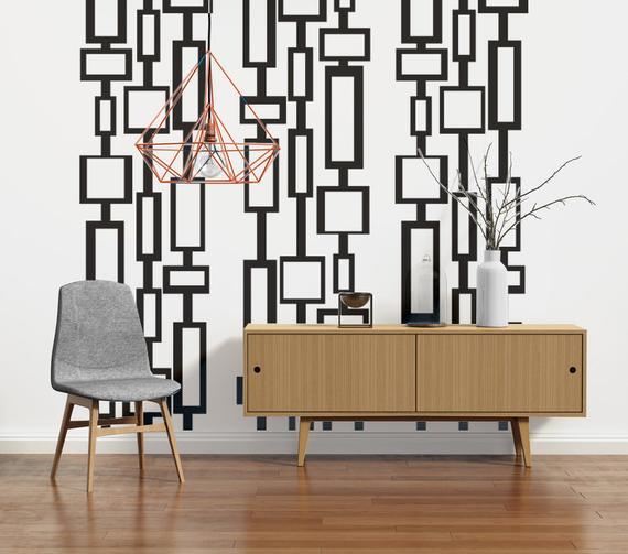 Mid Century Modern Decor Modern Wall Decals Mid Century | Et
