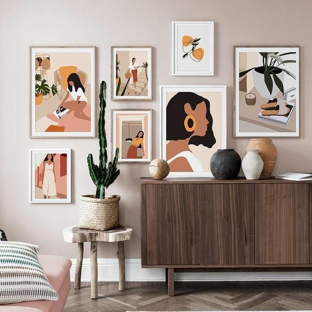 Mid-Century Modern Graphic Wall Art Print – House of Andaloo .