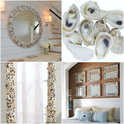 Oyster Shell Mirror Ideas | Shop & DIY Tutorials - Coastal Decor .