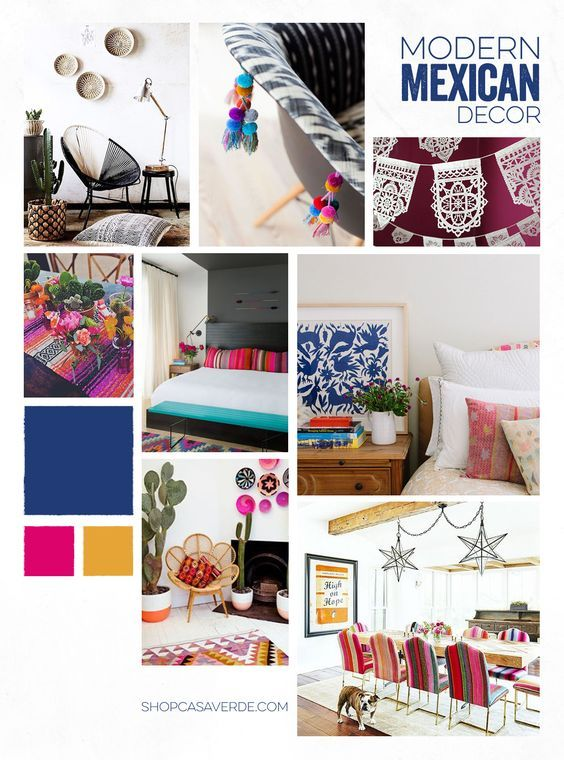 Modern Mexican Decor — Casa Verde | Mexican bedroom decor, Mexican .