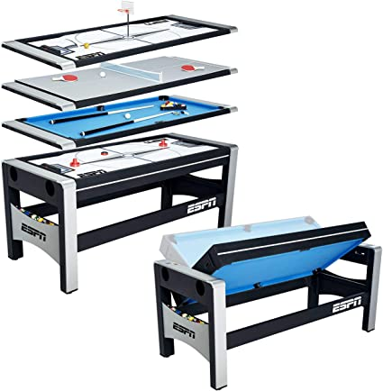 Amazon.com : ESPN Multi Game Table 4-in-1 Swivel Combo Game Table .