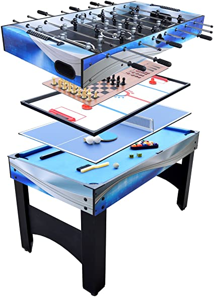 Amazon.com : Hathaway Matrix 54-In 7-in-1 Multi Game Table with .