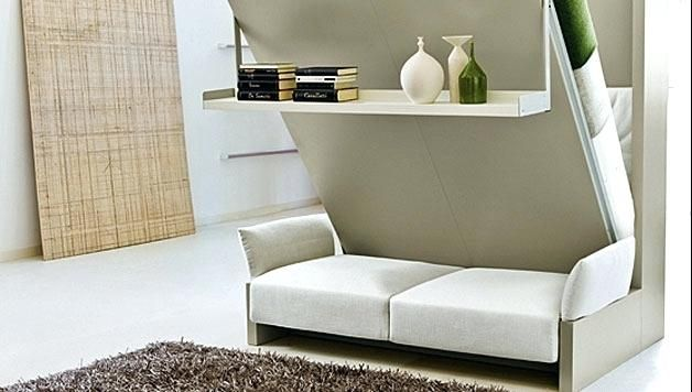 wall bed sofa combo | Small room design, Modern murphy beds .