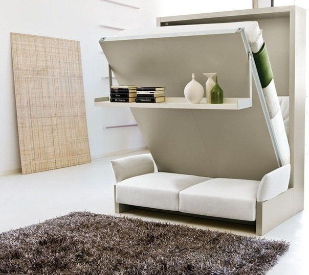 Intriguing Murphy bed/ day couch combination. | Murphy bed ikea .