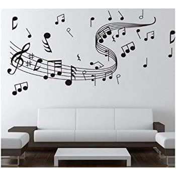 Amazon.com: Dailinming WALL'S Matter Home Decor Music Note Wall .