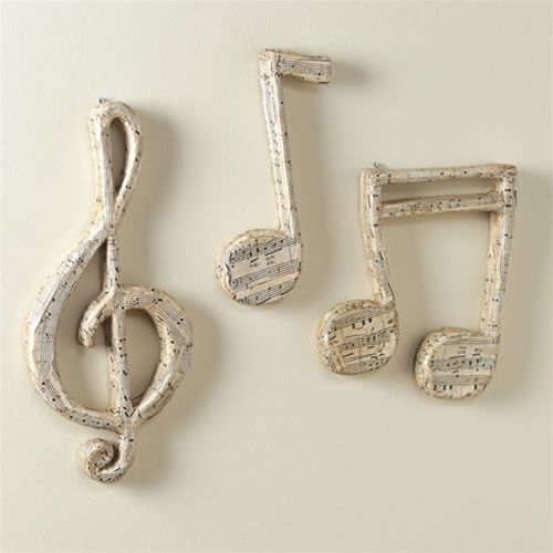 Papier Mache Music Notes Wall Decor at The Music Stand | Music .