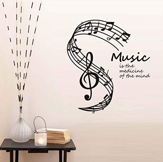 Amazon.com: Dalxsh Music is The Medicine of The Mind Wall Stickers .