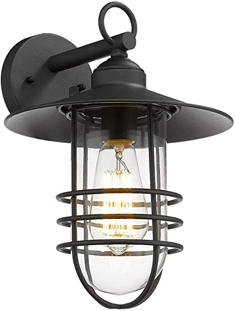 Emliviar Nautical Outdoor Wall Light, Exterior Wall Lantern with .